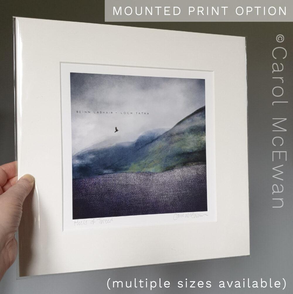Hills of Tweed mounted print