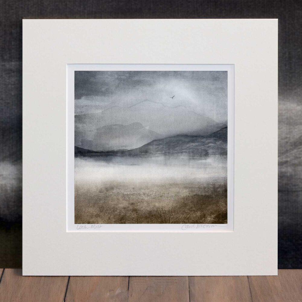 Loch Mist mounted print
