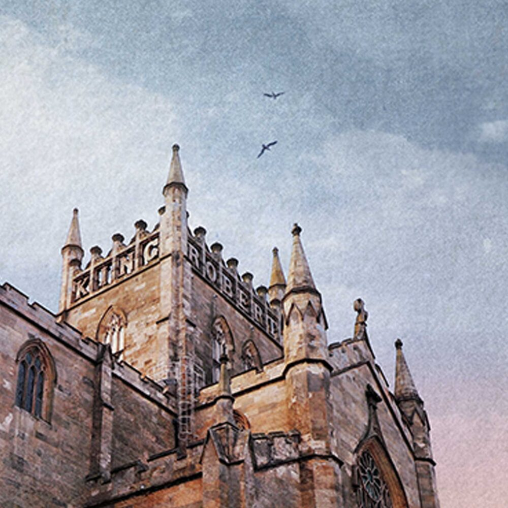 closeup of Dunfermline Abbey mounted print