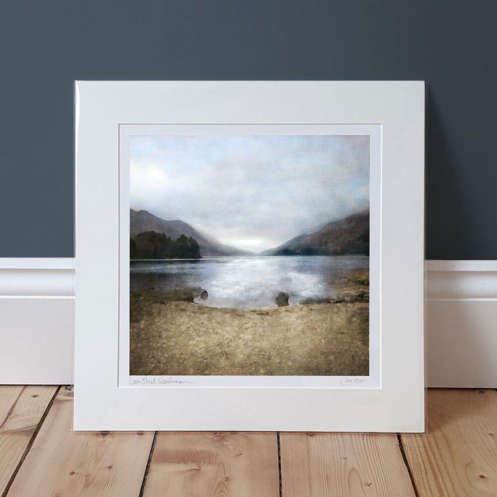 loch shiel glenfinnan print in a window mount
